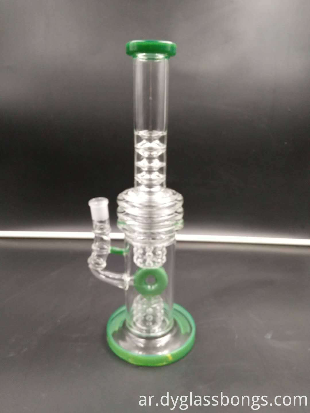 Classic double cage design of glass water pipe