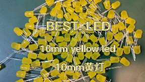 10mm Yellow LED with yellow diffused lens 590nm Yellow LED 595nm yellow diffused LED lamp
