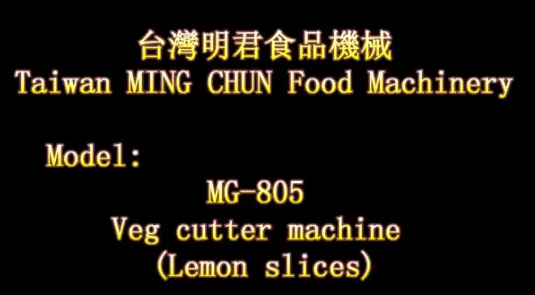 MG 805 Veg cutter machine Lemon slices