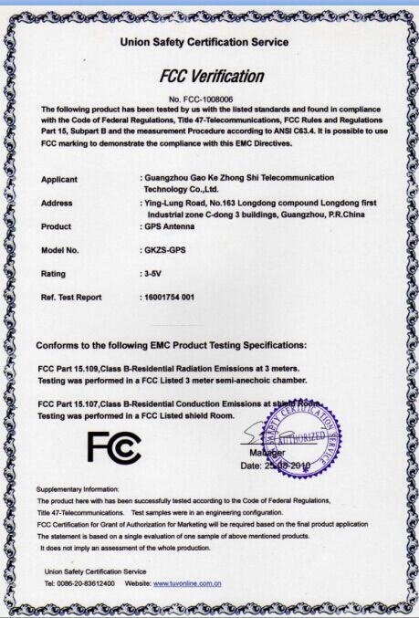FCC Certification