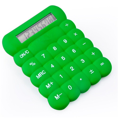 8 Digits handhold pocket size silicone calculator