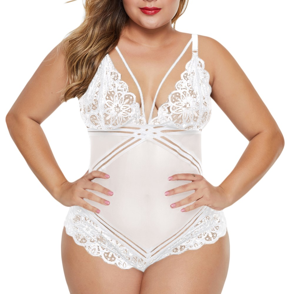 White Plus Size Lingerie