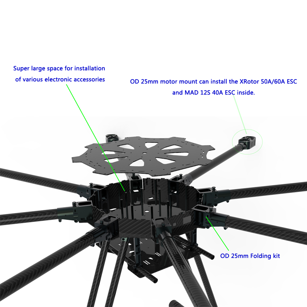 JMRRC-O1300mm Octocopter Drone frame with landing gear
