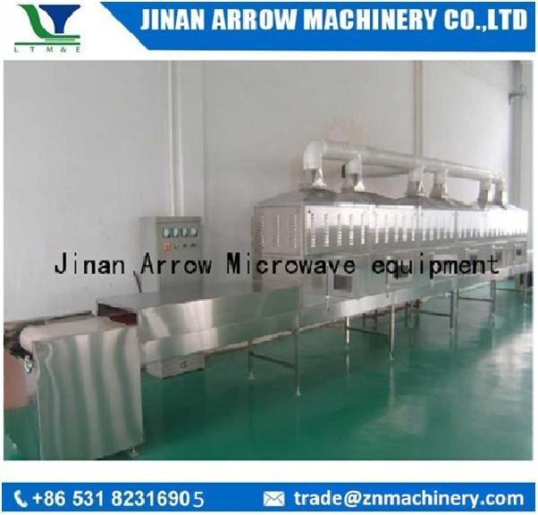 Microondas Microondas secagem segmento industrial e continuar a linha de processamento