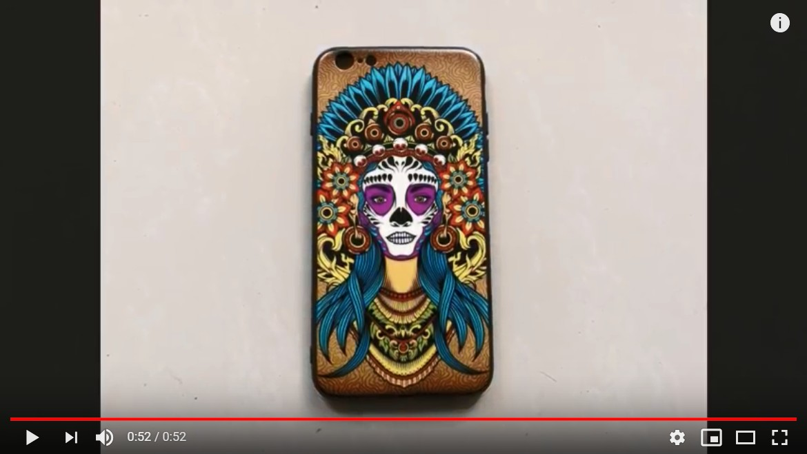 customize photos phone case printing with automatic RFA2 UV printer
