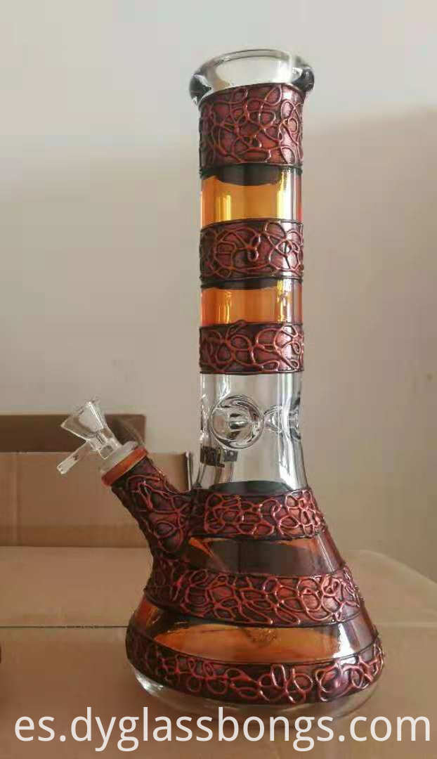 Glass Water Pipe Beaker Bong1