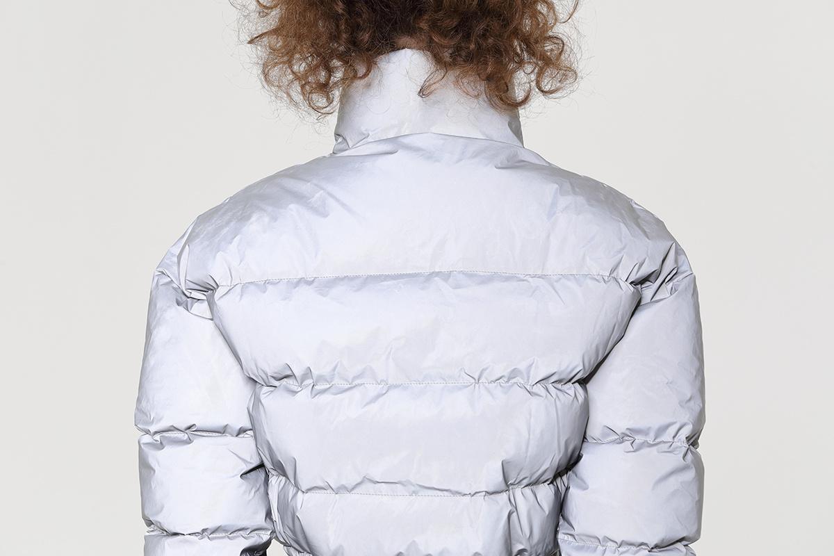 Fashion Women's Bubble Padded Reflective Coat