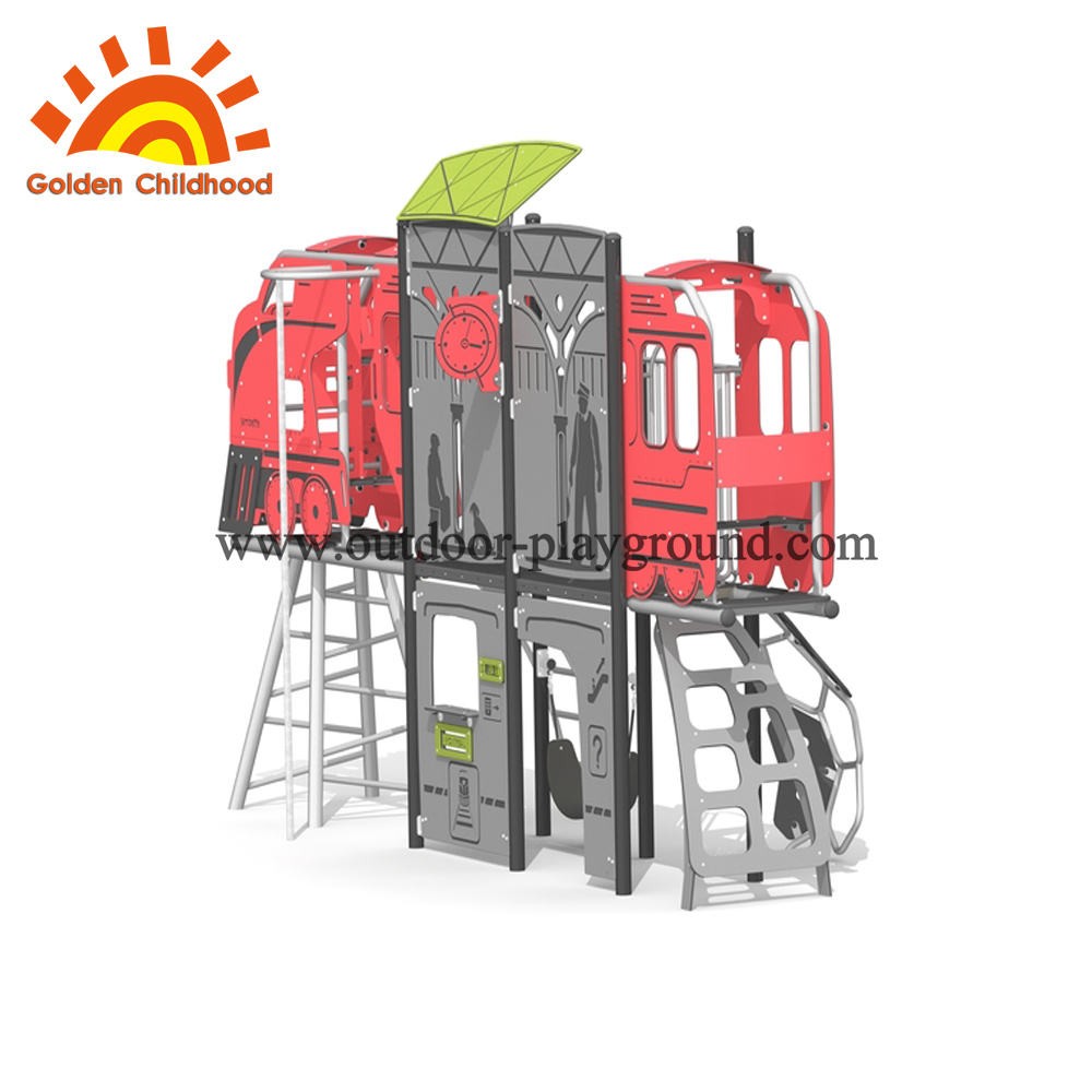 outdoor playground slide rope machine
