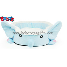 Lovely Plush Cartoon Blue Elephant Shape Pet Bed for Puppy Cat Dog Bosw1094/45X40X13cm