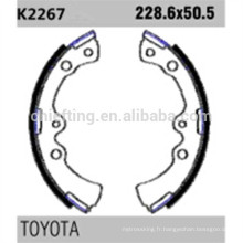 04496-28020 K2267 pour l'épaisseur de doublure de sabot de frein Toyota Daihatsu