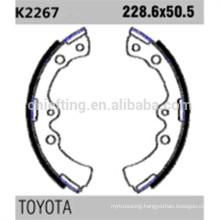 04496-28020 K2267 for Toyota Daihatsu brake shoe lining thickness