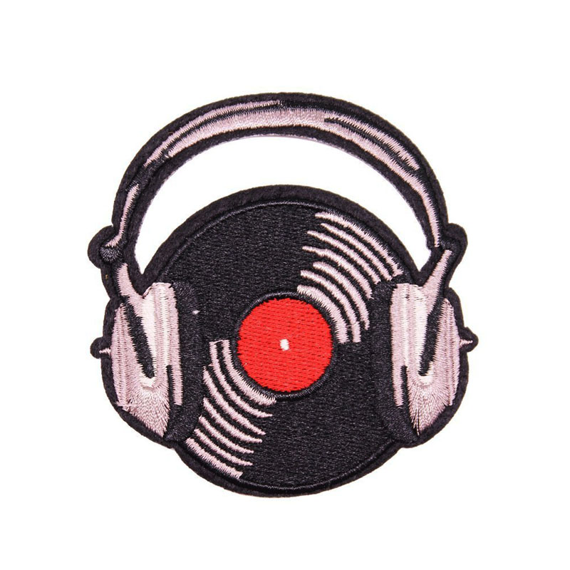 Vinyl Record Earphone Patch