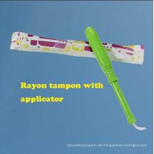 Feminine Natual kostenlose Probe super saugfähigen Viskose Tampons für Frauen