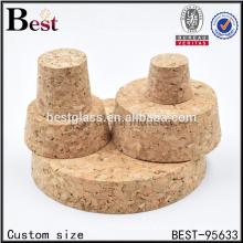 custom size wooden bottle cork, wooden bottle cork for glass bottle, glass milk bottle cork