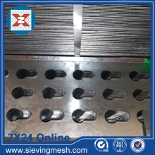Rede de metal perfurada com formato especial