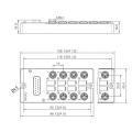 M8 Verteilerkasten mit vorgefertigtem DB15-Stecker