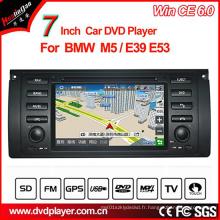 Lecteur DVD Windows Ce Car pour BMW 5 Series GPS Tracker avec navigation GPS Hualingan