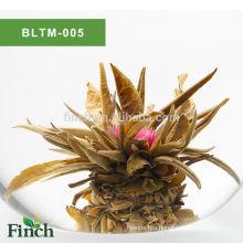Finest Chirstmas Gift EU Certificate Chinese Artistic Handmade Fruit Flavor Blooming Tea Ball