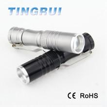 3W miniature rechargeable en aluminium rechargeable mini lampe de poche