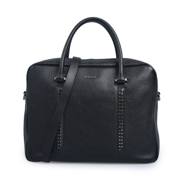 Shorty Flat Top Zippered Tote Bürotasche Schwarz