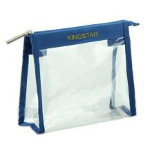 Fashion Custom Brand Promotion Transparent PVC Zipper Cosmetic Bag