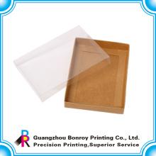 Embalaje plegable de papel de encargo claro de la caja de zapatos de bebé