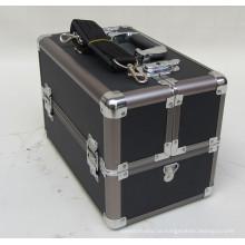 2013 schwarz ABS Make-up Zug Aluminiumgehäuse Falten Tabletts Palette
