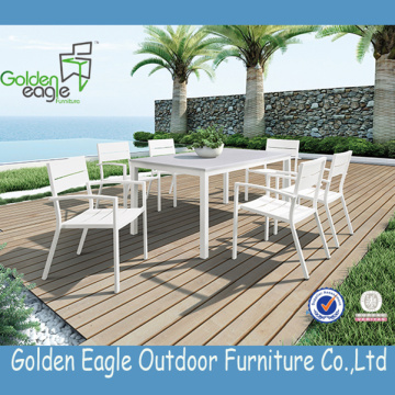 Outdoor Furniture Aluminium Metal Dining Set