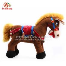 Peluche y felpa paseo en animales para el centro comercial, caminando felpa juguete de caballo blanco para niños