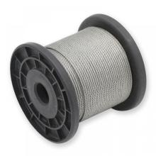 1X19 stainless steel wire rope 1/8in 316