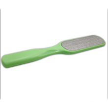 Square Stainless Steel Foot File With Green Plastic Handle