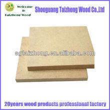 Plain Hardboard MDF Painéis de partículas