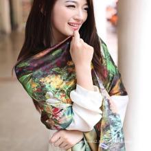 Digital Printed Silk Shawl (12-BR110303-1)