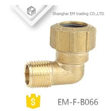 EM-F-B066 latón Elboow España diferente diámetro rosca macho tubería de plomería