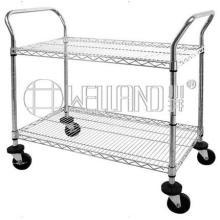 NSF Cromo Heavy Duty Wire Shelvig carro con carga de 600 libras por estante (CJ-A1213)