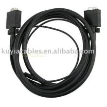 6 pieds HD15 M / M HD Câble SVGA / VGA avec câble audio 3,5 mm Câble de moniteur