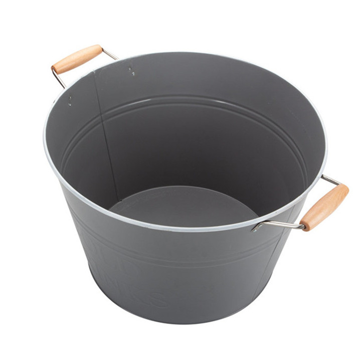 Large Metal Galvanized Bucket