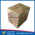 Custom Metal Fiber Optic Junction Box with Yellow Zinc