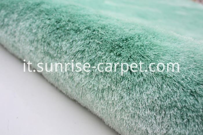 Silk Shaggy Polyester Thin Yarn Green