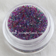 Transparent Mini Glitter Glass Seed Beads Stickers for Nail Art