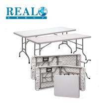 Mobília ao ar livre preço baixo HDPE foldable tabela de piquenique mesa de aço dobrável mesa de camping