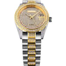 Полный камень любовника ювелирные изделия часы с автоподзаводом и полным камней