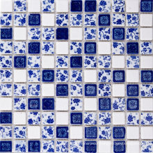 Exquisitely Made Small Chip Size Glazed Ceramic Mosaic Tile Flowers