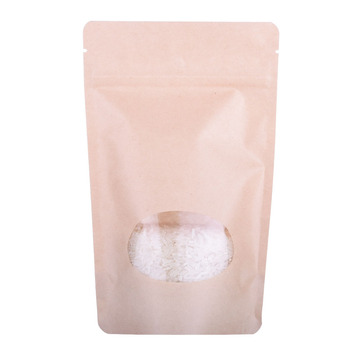Biodegradable Zipper Stand Up Coffee Packaging Paper Bag