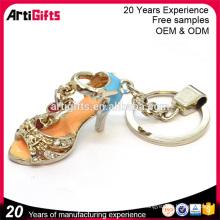 Hot sale custom rhinestone high heel keychains