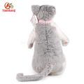 ICTI 30 cm brinquedo de pelúcia gato perna longa gato de brinquedo de pelúcia realista brinquedo de pelúcia