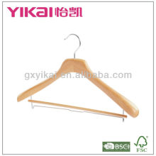 High quality multifunction wood coat and trousers hanger
