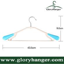 Cremalheira plástica da roupa capaz do ombro de giro, gancho plástico