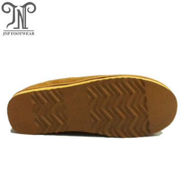 winter warm fur moccasin genuine leather slippers