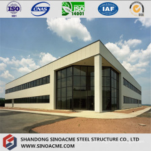 Steel Structure Administration Building with Glass Curtain Wall